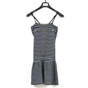 Women's StrapMidi  Stripe Dress